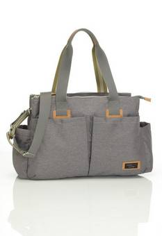 Storksak Travel Shoulder bag in Grey