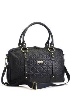 Storksak Elizabeth Quilted Leather Changing Bag