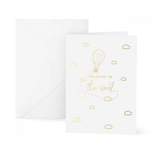 Katie Loxton Welcome to the World Greetings Card